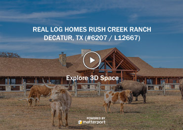 Decatur, TX Rush Creek Ranch Log Home and Addition (L12667)